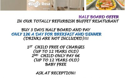 Half Board offer Club Santa Rosa