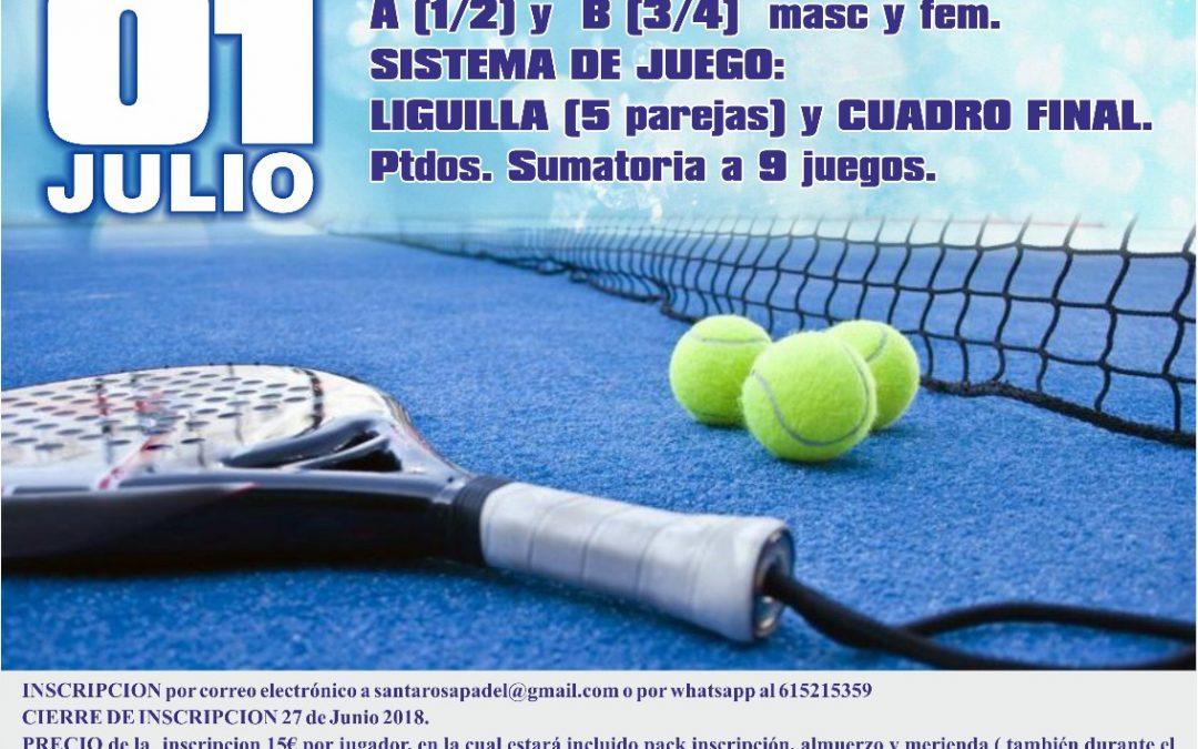 Fiesta de Verano 12h de Padel Club Santa Rosa