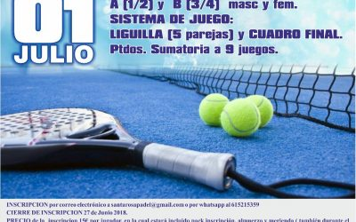 Summer Party 12h Padel Club Santa Rosa